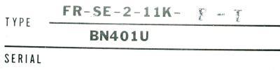 Mitsubishi FR-SE-2-11K-F-T label image