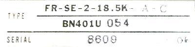 Mitsubishi FR-SE-2-18.5K-A-C label image