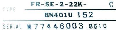 Mitsubishi FR-SE-2-22K-C label image