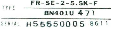 Mitsubishi FR-SE-2-5.5K-F label image