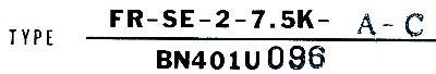 Mitsubishi FR-SE-2-7.5K-A-C label image