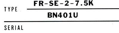 Mitsubishi FR-SE-2-7.5K label image
