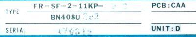 Mitsubishi FR-SF-2-11KP-BC label image