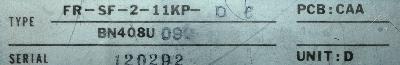 Mitsubishi FR-SF-2-11KP-DC label image