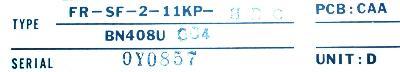 Mitsubishi FR-SF-2-11KP-HBC label image