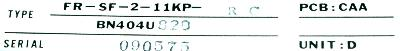 Mitsubishi FR-SF-2-11KP-RC label image