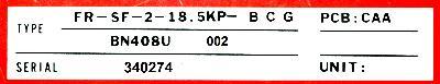 Mitsubishi FR-SF-2-18.5KP-BCG label image