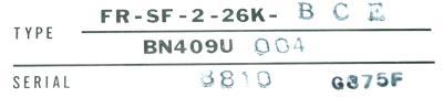 Mitsubishi FR-SF-2-26K-BCE label image