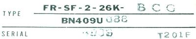 Mitsubishi FR-SF-2-26K-BCG label image