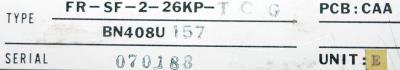 Mitsubishi FR-SF-2-26KP-TCG label image