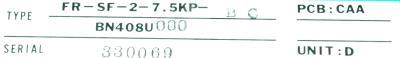 Mitsubishi FR-SF-2-7.5KP-BC label image