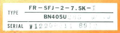 Mitsubishi FR-SFJ-2-7.5K-T label image