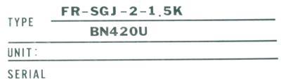 Mitsubishi FR-SGJ-2-1.5K-BR label image