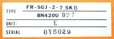 Mitsubishi FR-SGJ-2-7.5K-B label image