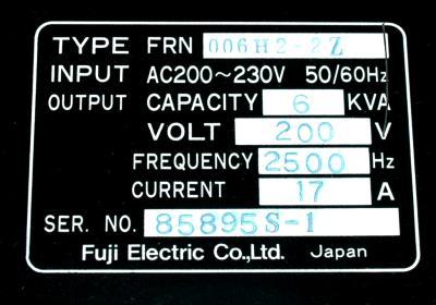 Fuji FRN006H2-2Z label image