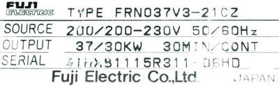 Fuji FRN037V3-21CZ label image