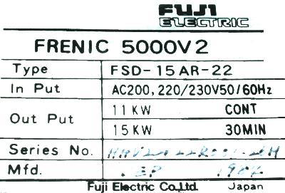 Fuji FSD-15AR-22 label image