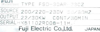Fuji FSD-30AR-23CZ label image