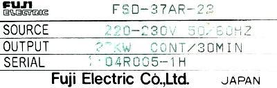 Fuji FSD-37AR-23CZ label image