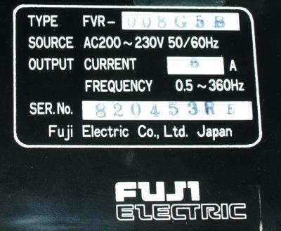Fuji FVR008G5B-2 back image