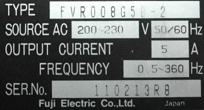 Fuji FVR008G5B-2 label image