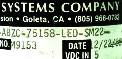 BEI ELECTRONICS H25Y-SB-5000-M2-C2-ABZC-75158-LED-SM22 back image