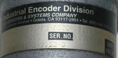 BEI ELECTRONICS H25Z-SB-5000-M2-ABZC-75158-LED-SM22 label image