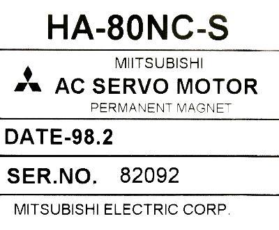 Mitsubishi HA80NC-S label image