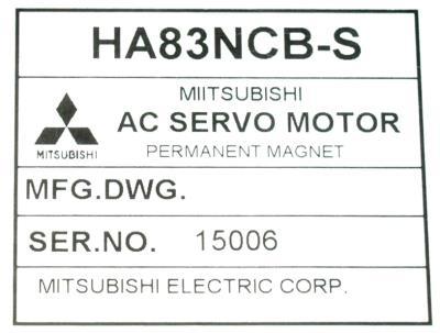 Mitsubishi HA83NCB-S label image