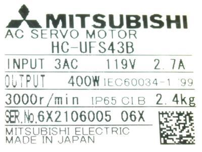 Mitsubishi HC-UFS43B label image
