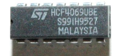 STMicroelectronics HCF4069UBE