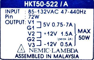 Nemic Lambda HKT50-522-A label image