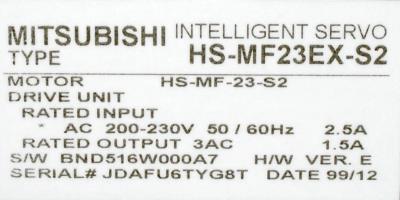 Mitsubishi HS-MF23EX-S2 label image