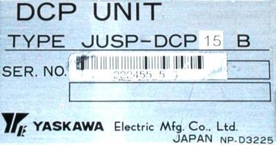 Yaskawa JUSP-DCP15B label image