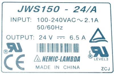 Nemic Lambda JWS150-24-A label image