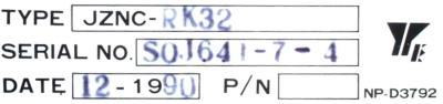 Yaskawa JZNC-RK32 label image