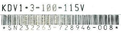 INDRAMAT KDV1.3-100-115V label image