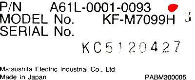 KF-M7099H Matsushita - CRT