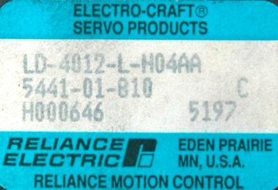 Allen-Bradley LD-4012-L-H04AA Motors-AC Servo
