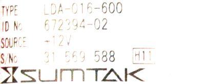 Sumtak LDA-016-600 label image