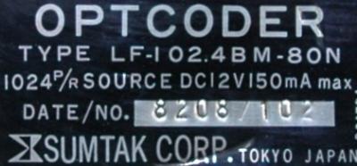 Sumtak LF-102.4BM-80N label image