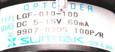 Sumtak LGF-010-100 label image