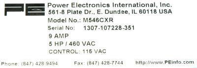Power Electronics M546CXR label image