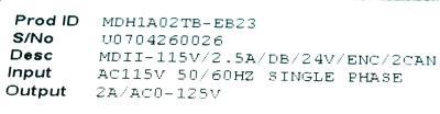 Baldor MDH1A02TB-EB23 label image