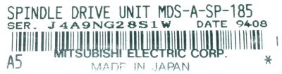 Mitsubishi MDS-A-SP-185 label image