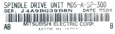 Mitsubishi MDS-A-SP-300 label image