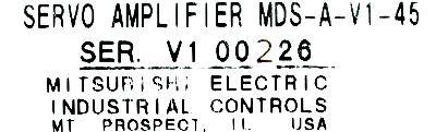 Mitsubishi MDS-A-V1-45 label image