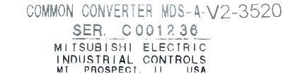 Mitsubishi MDS-A-V2-3520 label image