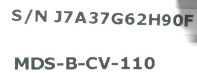 Mitsubishi MDS-B-CV-110 label image