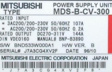Mitsubishi MDS-B-CV-300 label image